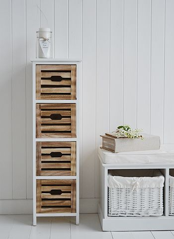 Portside Four Drawer Tall Storage Furniture Objects