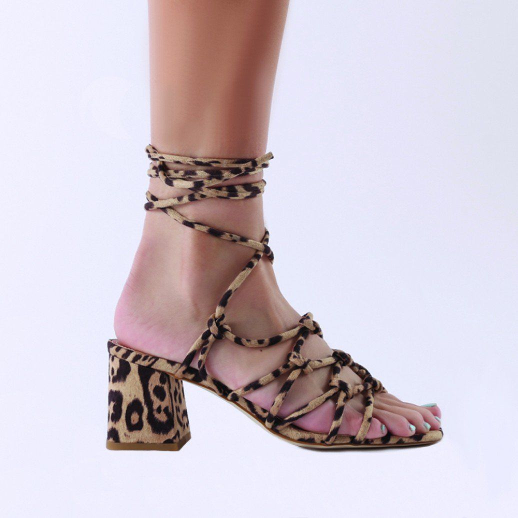 80386be2c5f Freya Knotted Strappy Block Heeled Sandals in Leopard Print | Shoes ...