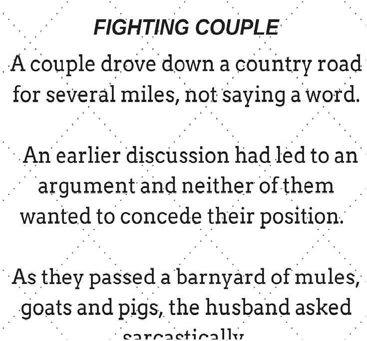 The Clever Wife Husband Figiting Wife Fighting Story Humorous