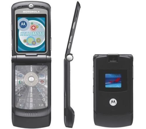 Motorola Razr V3 Unlocked Flip Mobile Phone New Boxed Black