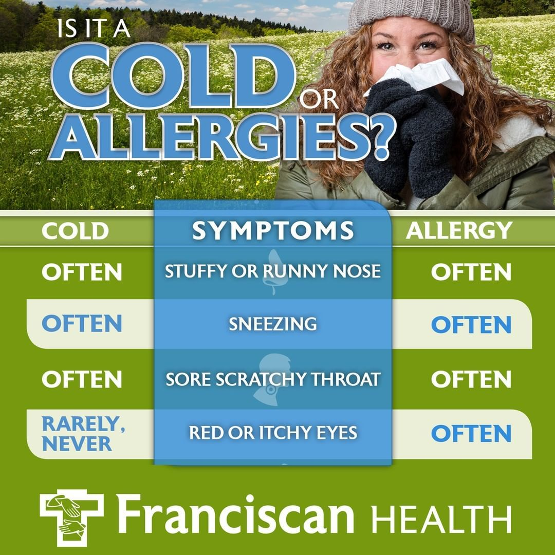 The symptoms of colds and allergies may seem similar, but