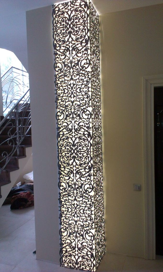 Metal Laser Cut Light Pillar Jali Railing And More