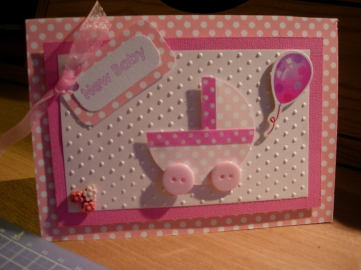 Baby girl card - chest of drawers Very simple and easy to make, but