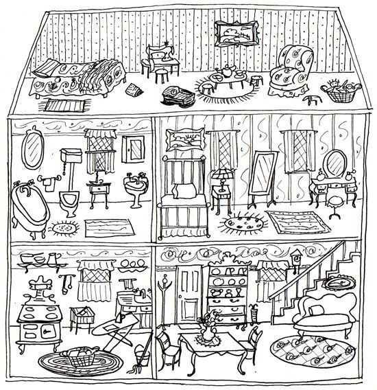 Dollhouse Coloring Pages