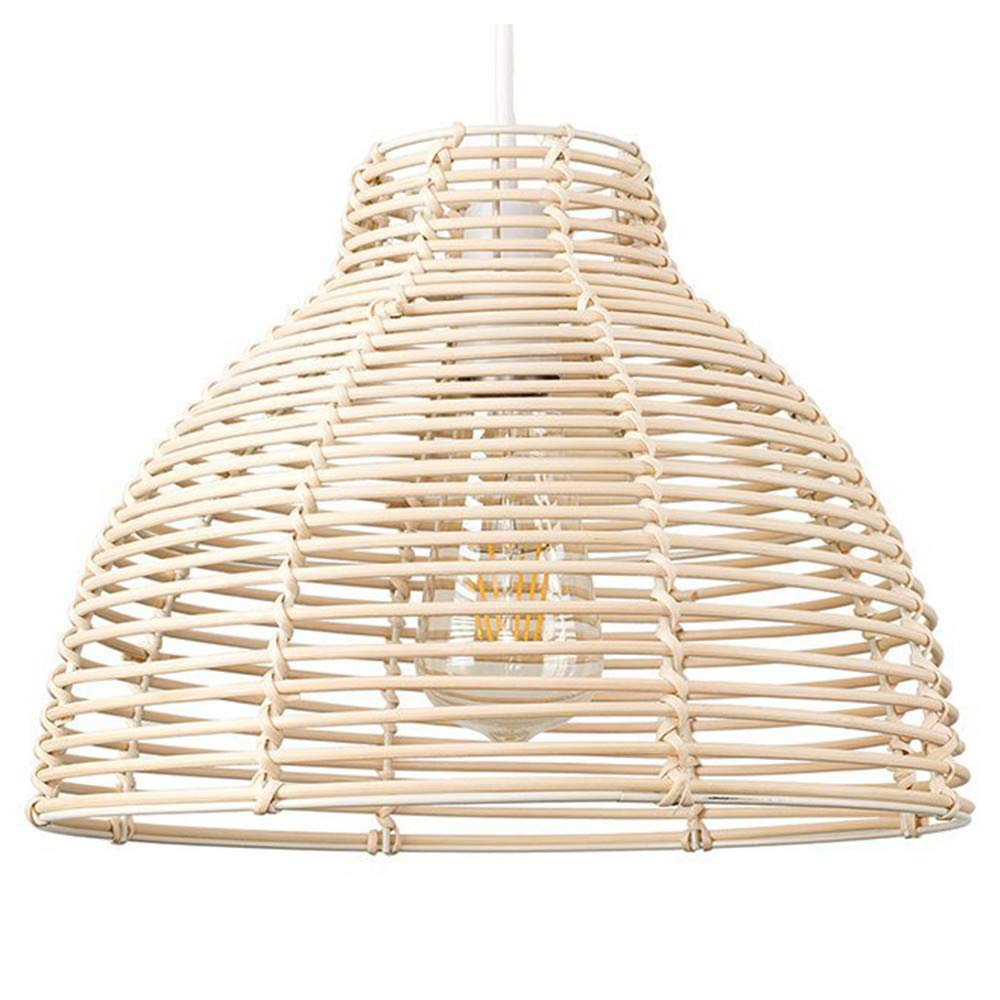 Amazon Com Sutianzhang Modern Pendant Light Cream Wicker Rattan Basket Style Chandelier Ceiling L Ceiling Light Shades Pendant Light Shades Pendant Lamp Shade