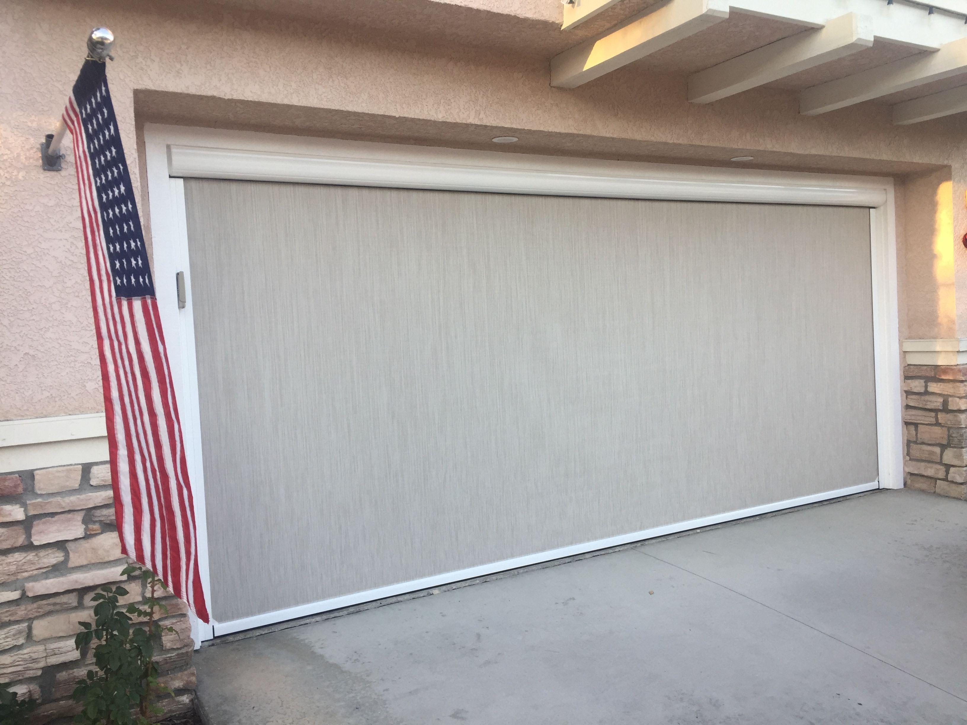 The First Approved Motorized Garage Door Power Screen In Aliso Viejo Hoa Do You Live In Aliso Viejo Califo Garage Screen Door Garage Doors Modern Garage Doors