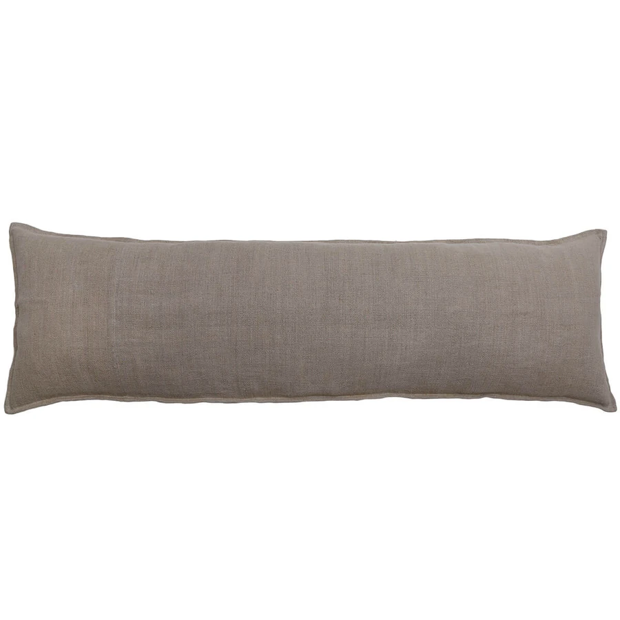 The Leon Body Pillow Natual Will Upgrade Your Bedding By Adding More Comfort With This Long Pillow The 100 Linen Bo Body Pillow Pom Pom At Home Long Pillow