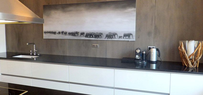 Küche Caravista Fraktal 3D Küche mit Steinwand Pinterest Wand - paneele für küche