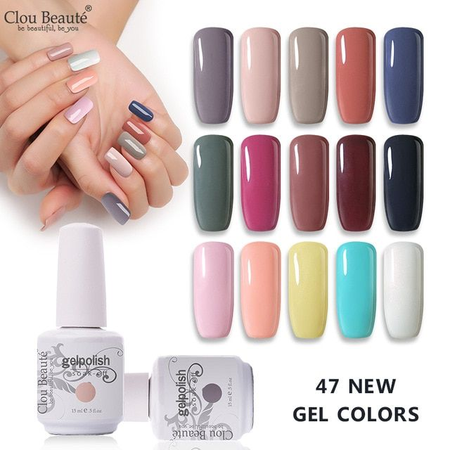 Clou Beaute Gel Polish Nail 15ml Semi Permanent Enamel
