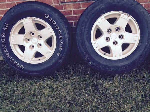 Dodge Truck Durango Wheel And Tire 265 70 17 Inch For Sale Or Trade Set Of Alloy Rims Wheels And Tires Wheels For Sale Pickups For Sale