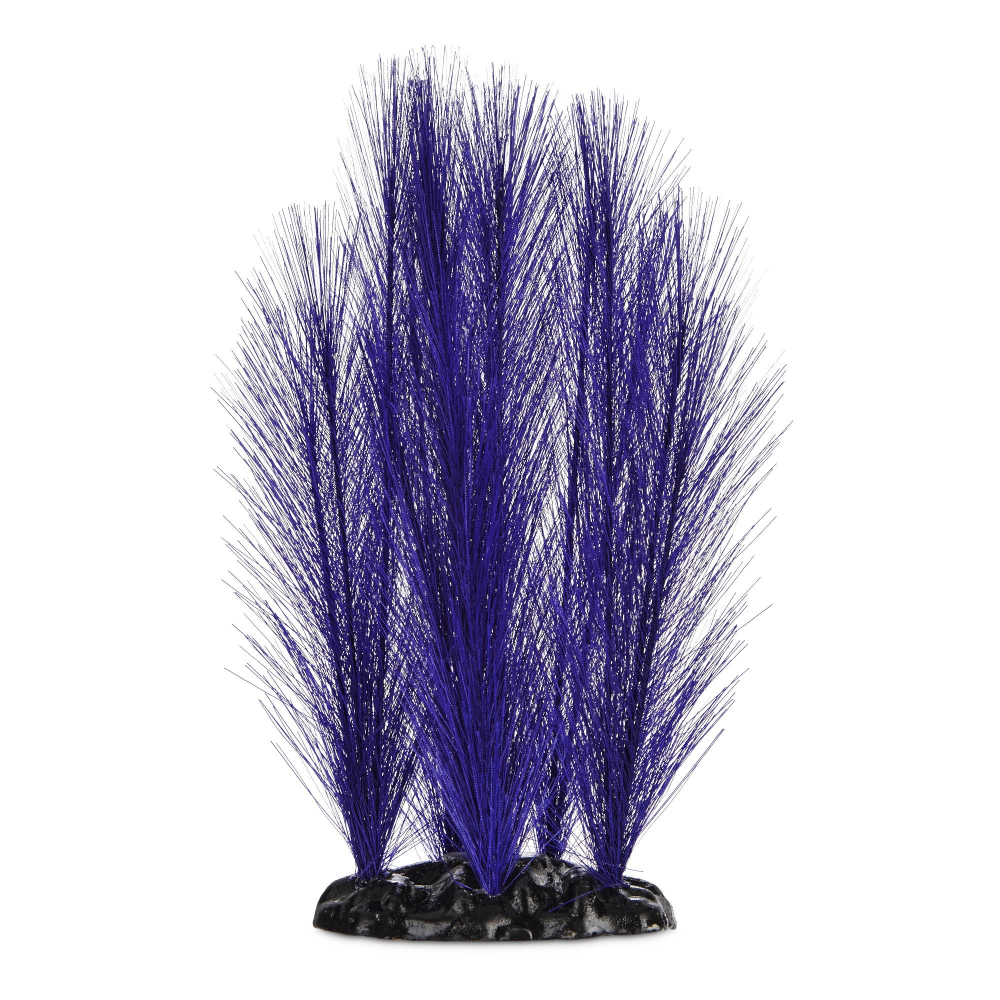 Imagitarium Purple Feather Silk Aquarium Plant, Medium