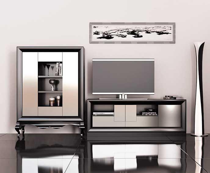 muebles mobiliario y decoracin composicion de salon alejandra ambientes de saln de diseo - Muebles Salon Diseo