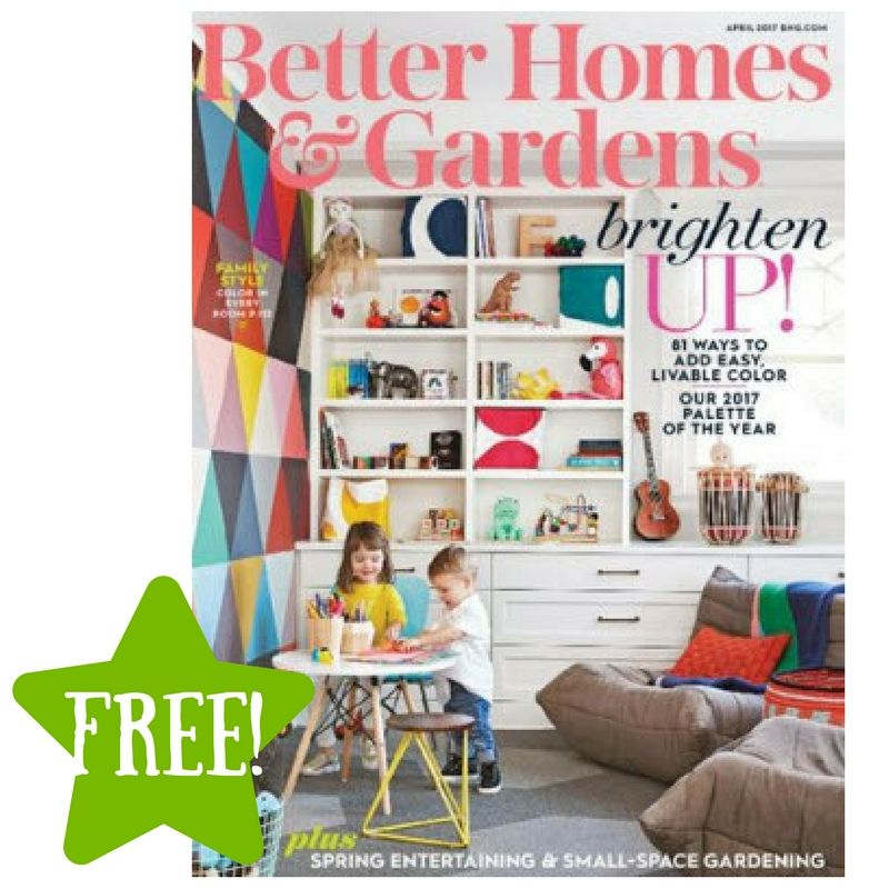 FREE Better Homes U0026 Gardens Magazine Subscription (3 Offers)