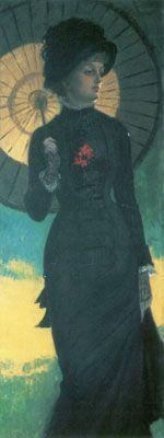 Jacques-Joseph Tissot - Mujer con sombrilla