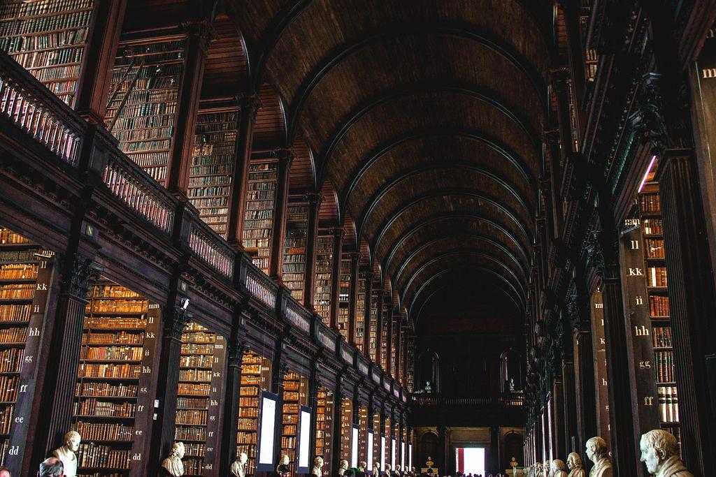 Library at Trinity College, Dublin, Ireland by vallero_sonia