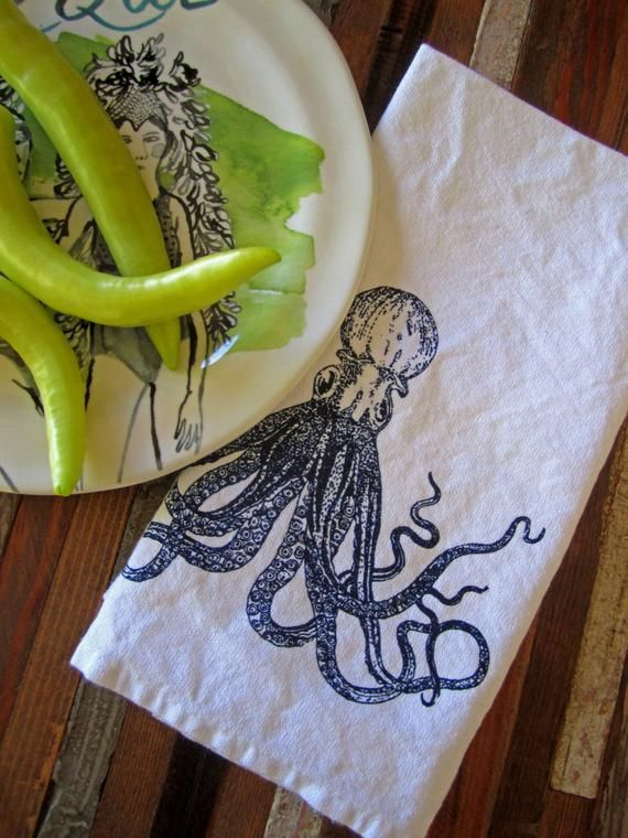 Cloth Napkins - Screen Printed Cloth Napkins - Eco Friendly Dinner Napkins - Cotton Cloth Napkins - #clothnapkins