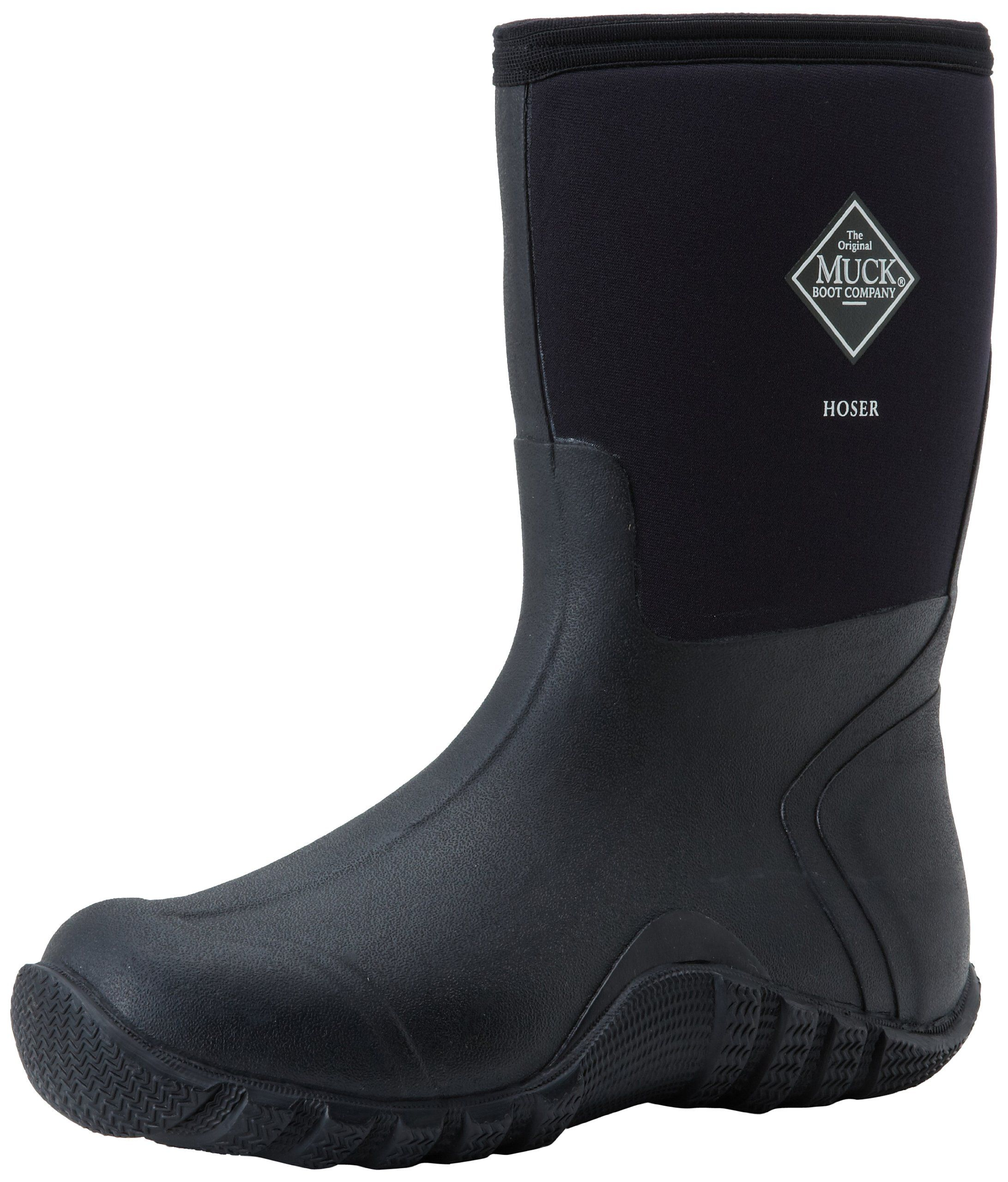 The Original MuckBoots Adult Hoser Mid Boot,Black,7 M US Mens/8
