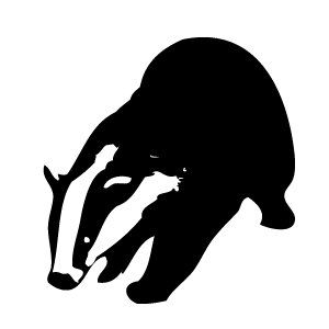 badger silhouette silhouettes tribal pinterest silhouettes rh pinterest ca badger clipart black and white badge clip art free