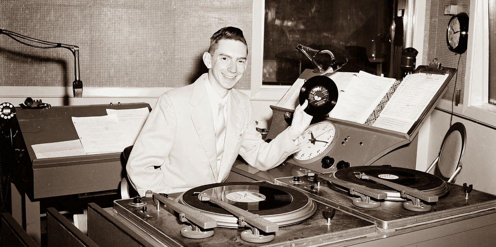 Jim Wesley mans the DJ booth at Atlanta's WSB radio station