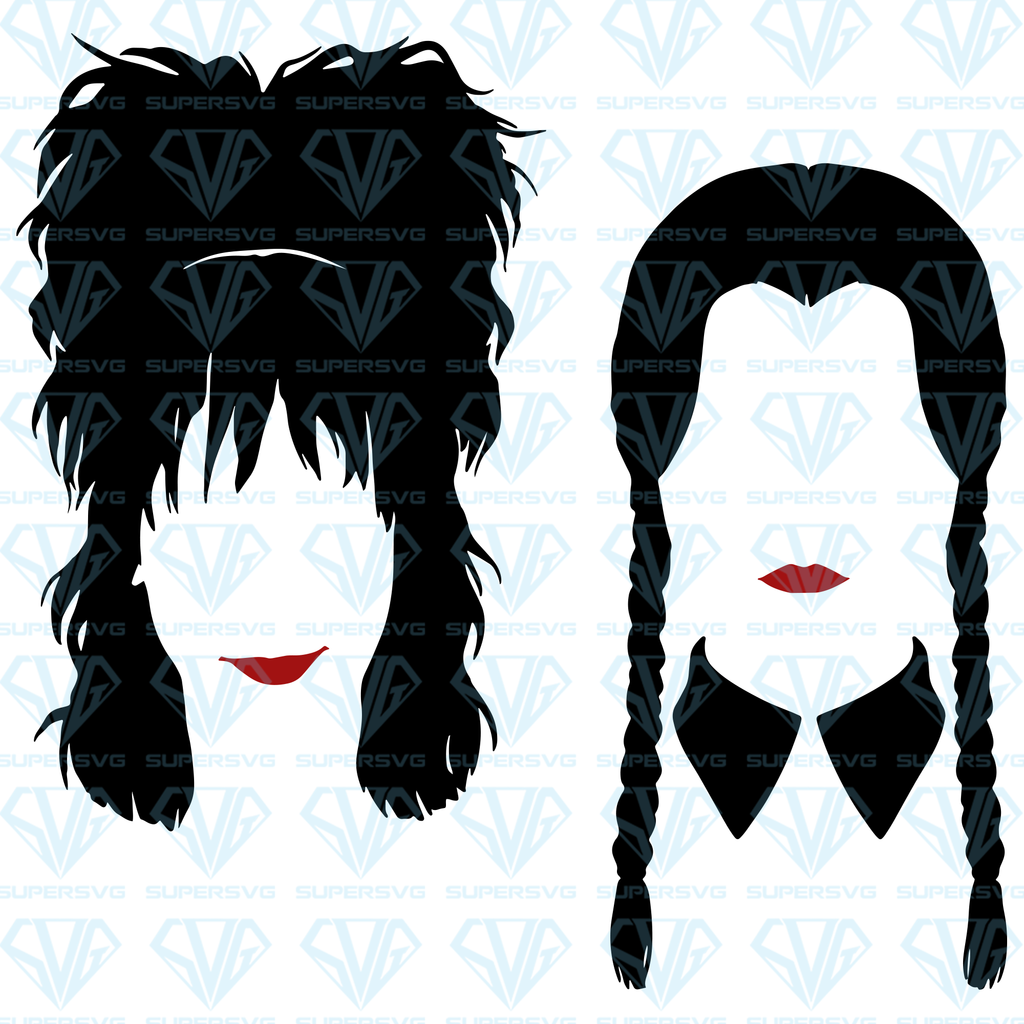 Lydia Deetz Wednesday Addams Bundle Svg Files For Silhouette Files For Cricut Svg Dxf Eps Png Instant Download Silhouette Tattoos Beetlejuice Tattoo Addams Family Tattoo