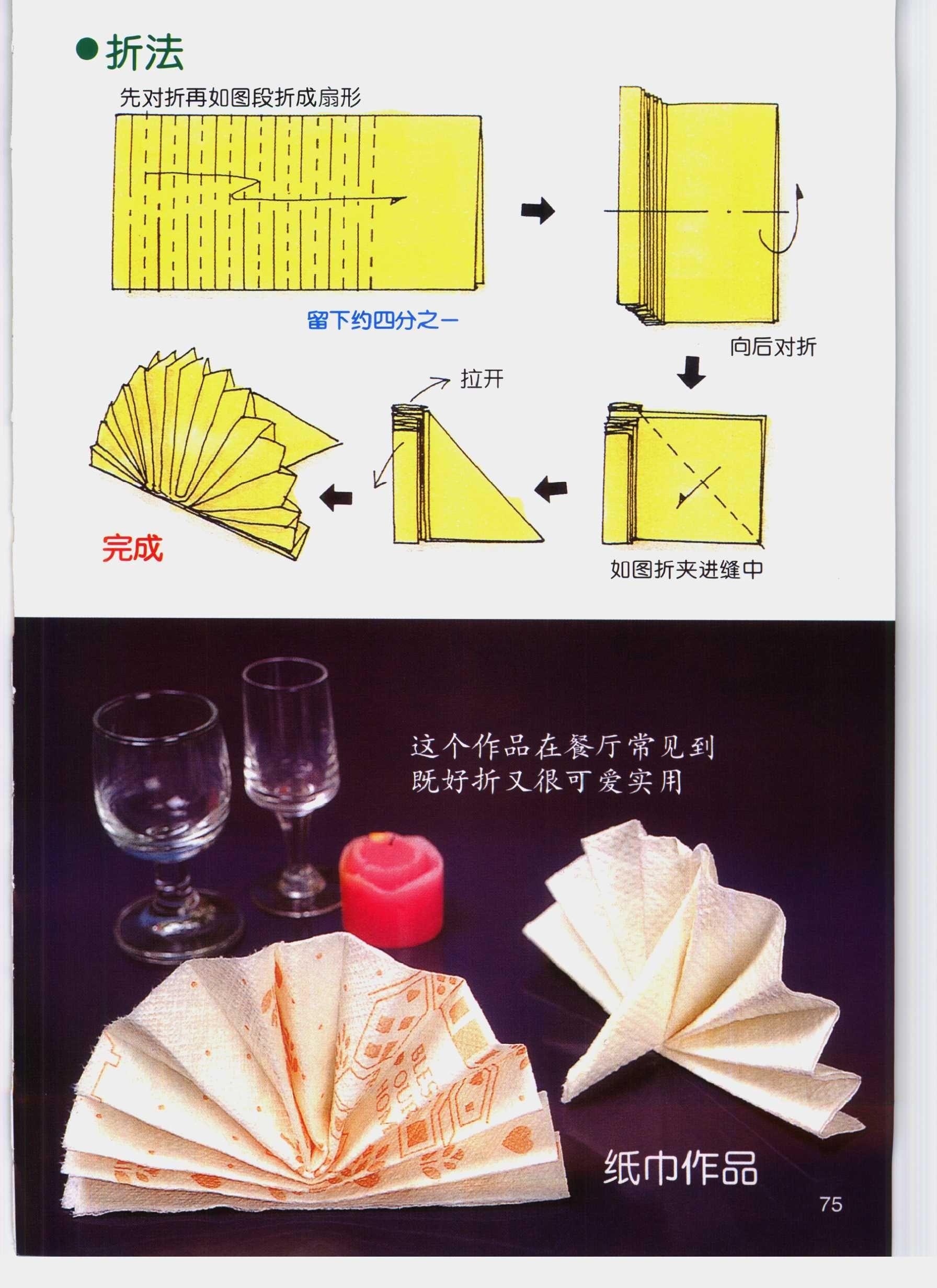 Fold Napkins Fan Napkins Food Tableware