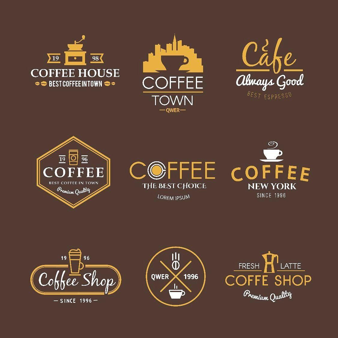 Coffee Shop Retro Logo Collection Concept
