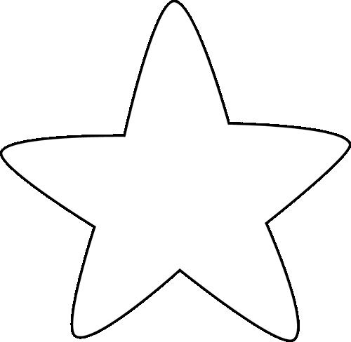 White Rounded Corner Clip Art Image White Star With Rounded Corners Clip Art Art Images Star Outline