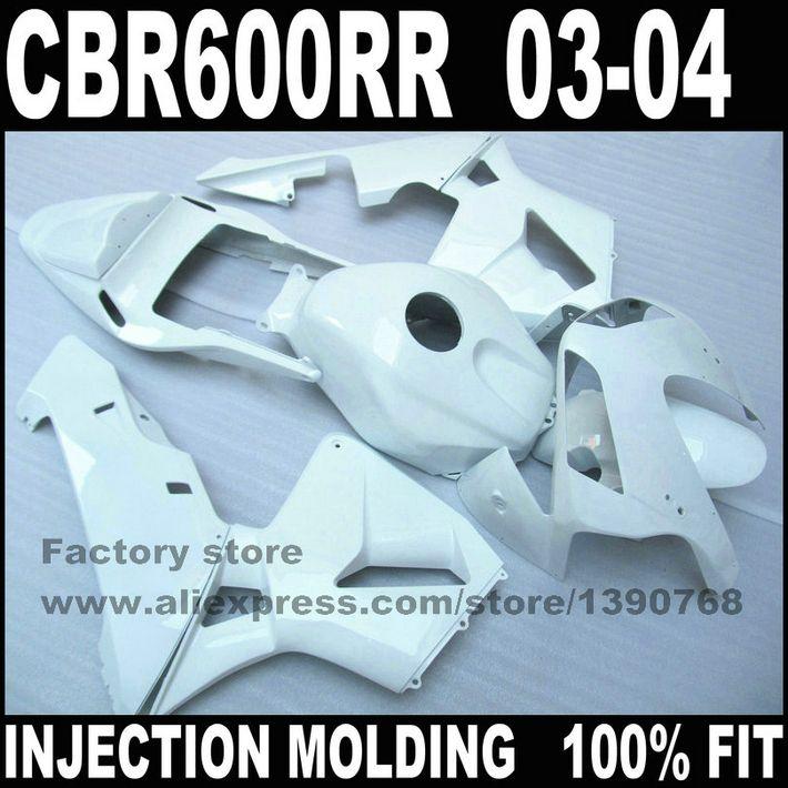 Custom Injection Factory Fairings Set For Cbr 600 Rr 03 04 Cbr600rr 2003 2004 Bright White Fairing Kits Bodywork Bodywork Cbr 600 Motorcycle Accessories
