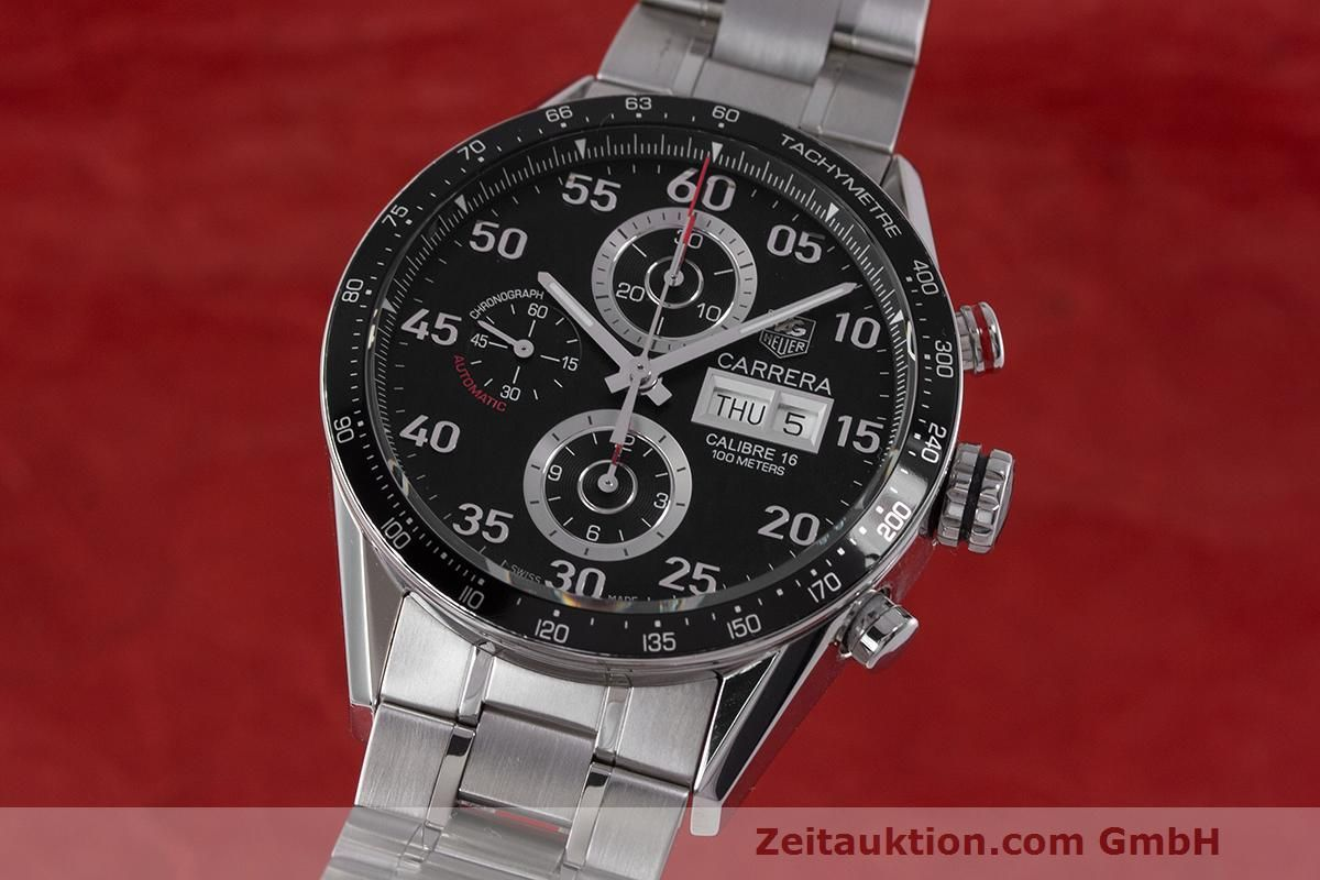 TAG Heuer Carrera Chronograph Stahl Automatik Kal. 16 ETA 7750 Ref. CV2A10