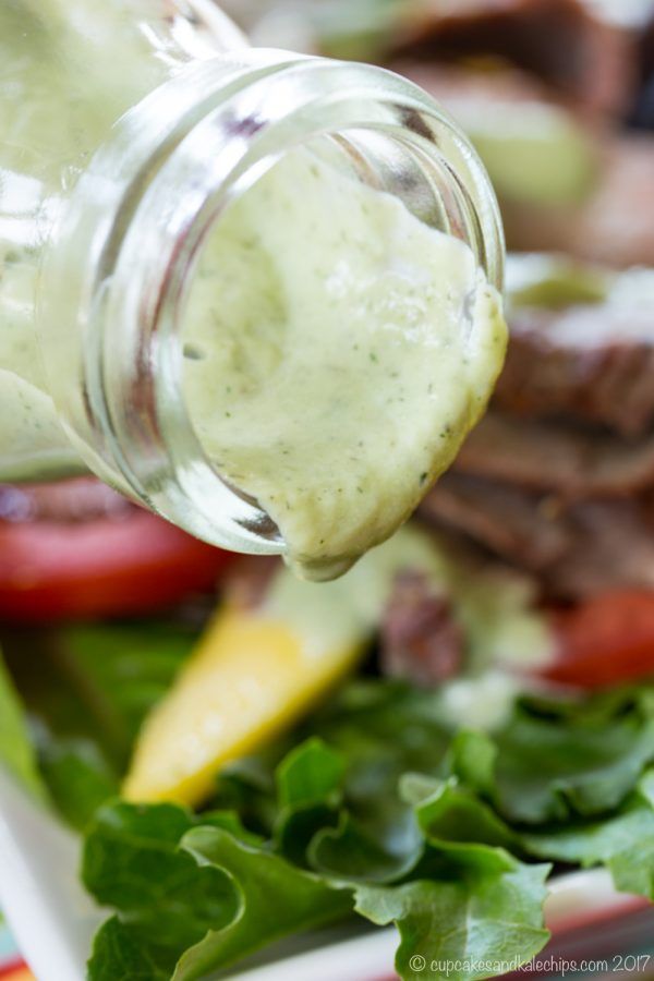 Avocado Buttermilk Ranch Dressing An Easy Salad Dressing Recipe That S As Delicious On Greens Ranch Dressing Buttermilk Ranch Dressing Ranch Dressing Recipe