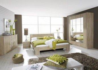 Chambre adulte complète contemporaine chêne clair Venicia | Chambres ...