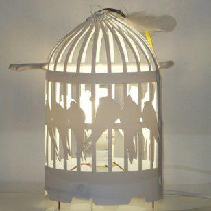 un abat jour cage oiseaux luminaire pinterest abat jour blanc hirondelle et abat jour. Black Bedroom Furniture Sets. Home Design Ideas