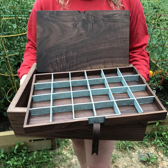 This large handcrafted heirloom jewelry box makes a beautiful gift