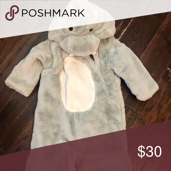 PotteryBarn Baby Hippo Costume Worn once, Like new Pottery Barn Kids Costumes Halloween #babyhippo