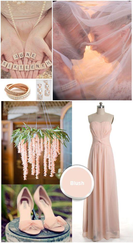 Blush Colored Chiffon Prom Gown Blush Wedding Color 2014 Wedding