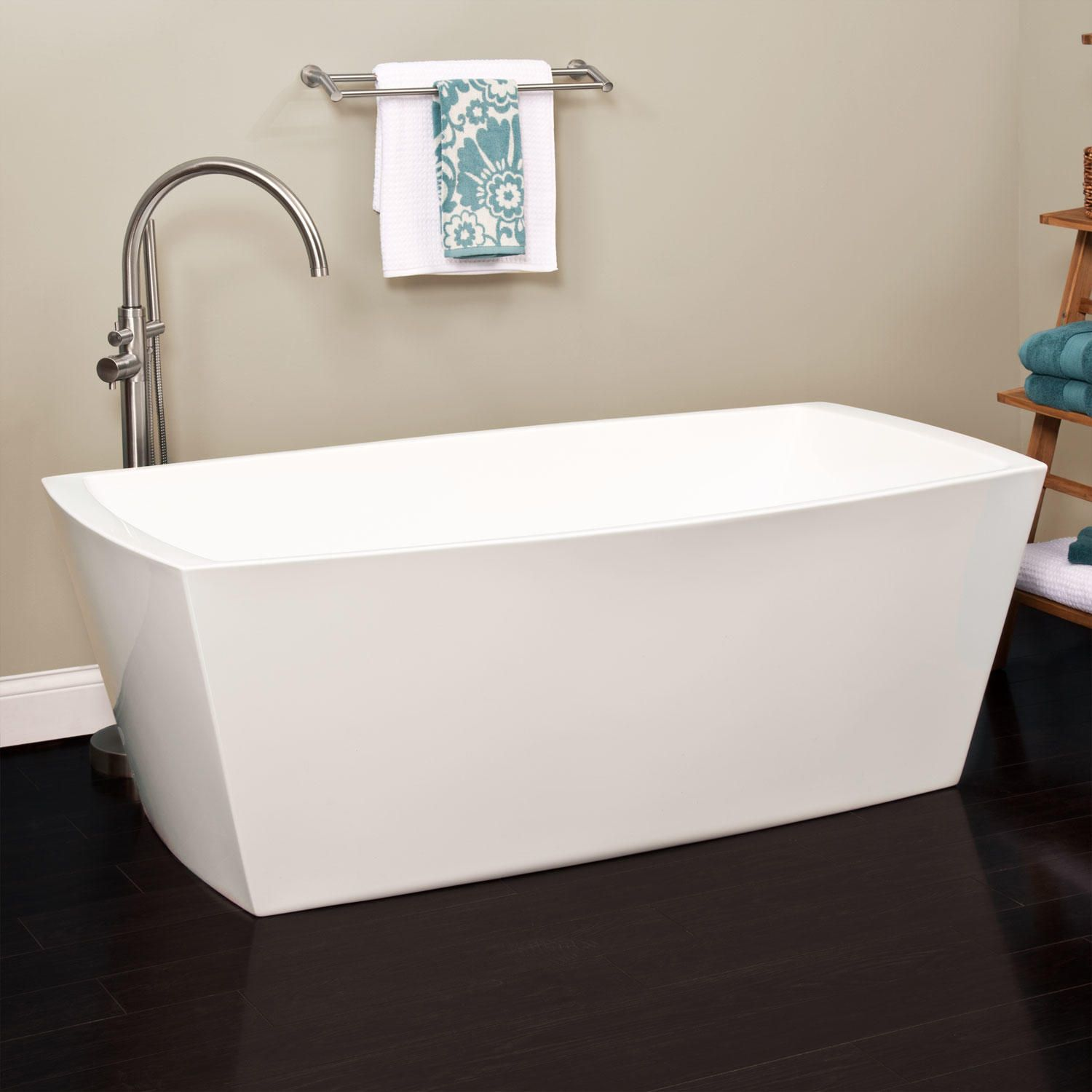 freestanding tub with faucet holes. 59  Avie Acrylic Freestanding Tub No Faucet Holes tub Tubs and Acrylics