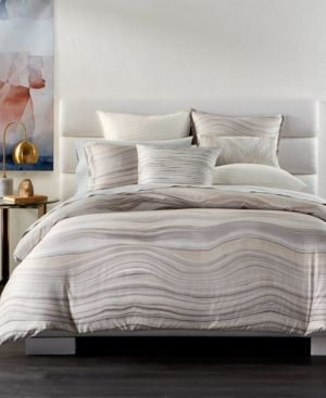 hotel collection agate pima cotton king duvet cover only at macyu0027s white