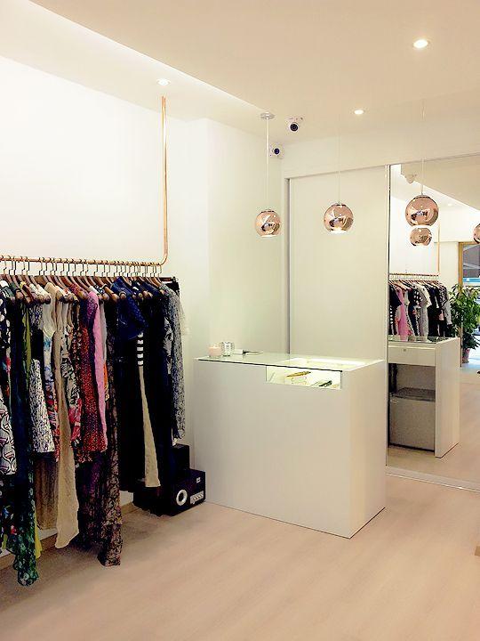 Cashier Counter Clothes Display Area Boutique Branding