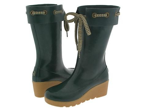 My green Sperry wedge rain boots. Love them! @Lasca Sartoris