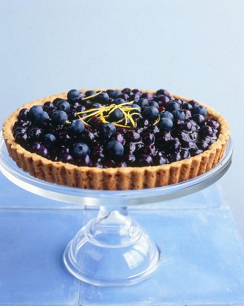 One of my favorite blueberry recipes.  We are making it today!  Blueberry Tart - Martha Stewart Recipes