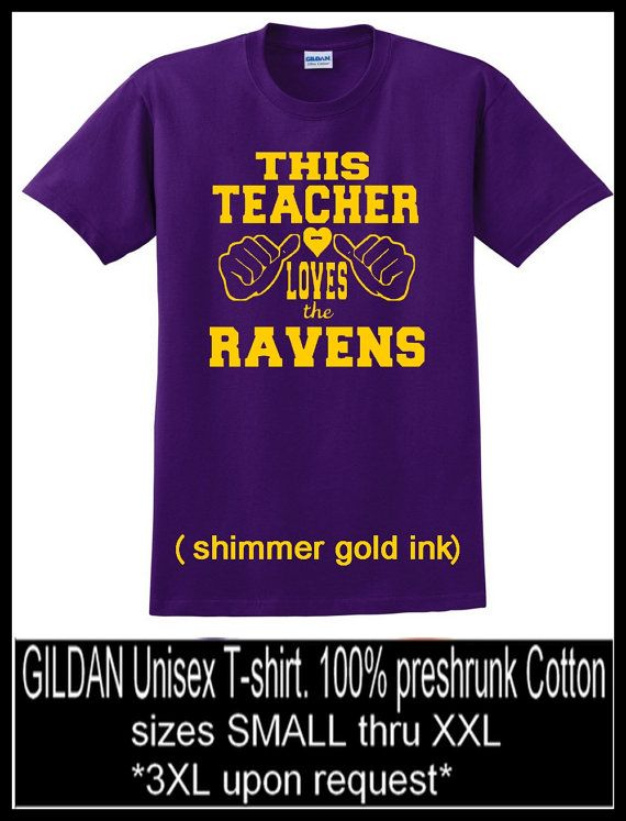 This Teacher Loves the RAVENS Baltimore Ravens T by SassyLadeez