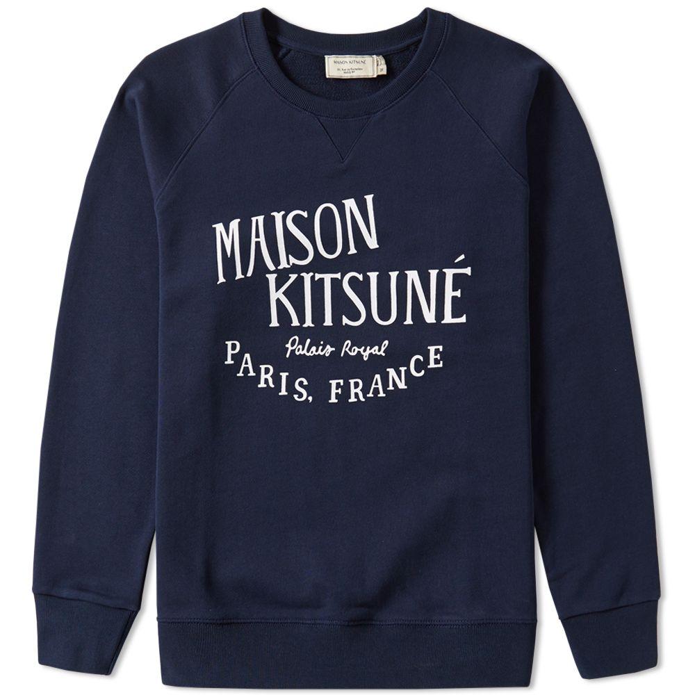 Maison Kitsune Palais Royal Crew Sweat Maison Kitsune Maison Kitsune Paris Kitsune [ 1000 x 1000 Pixel ]