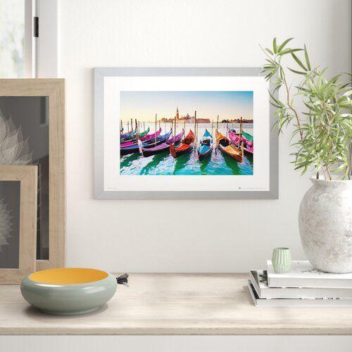 Photo of Zipcode Design Framed Poster Gondolas in Venice | Wayfair.de