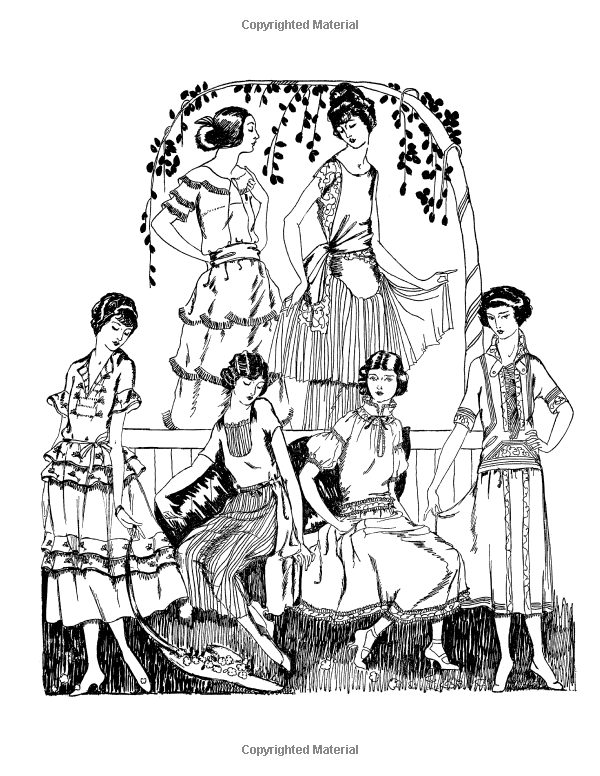 Amazon.com: Vintage Women: Adult Coloring Book #7: Vintage Fashion ...