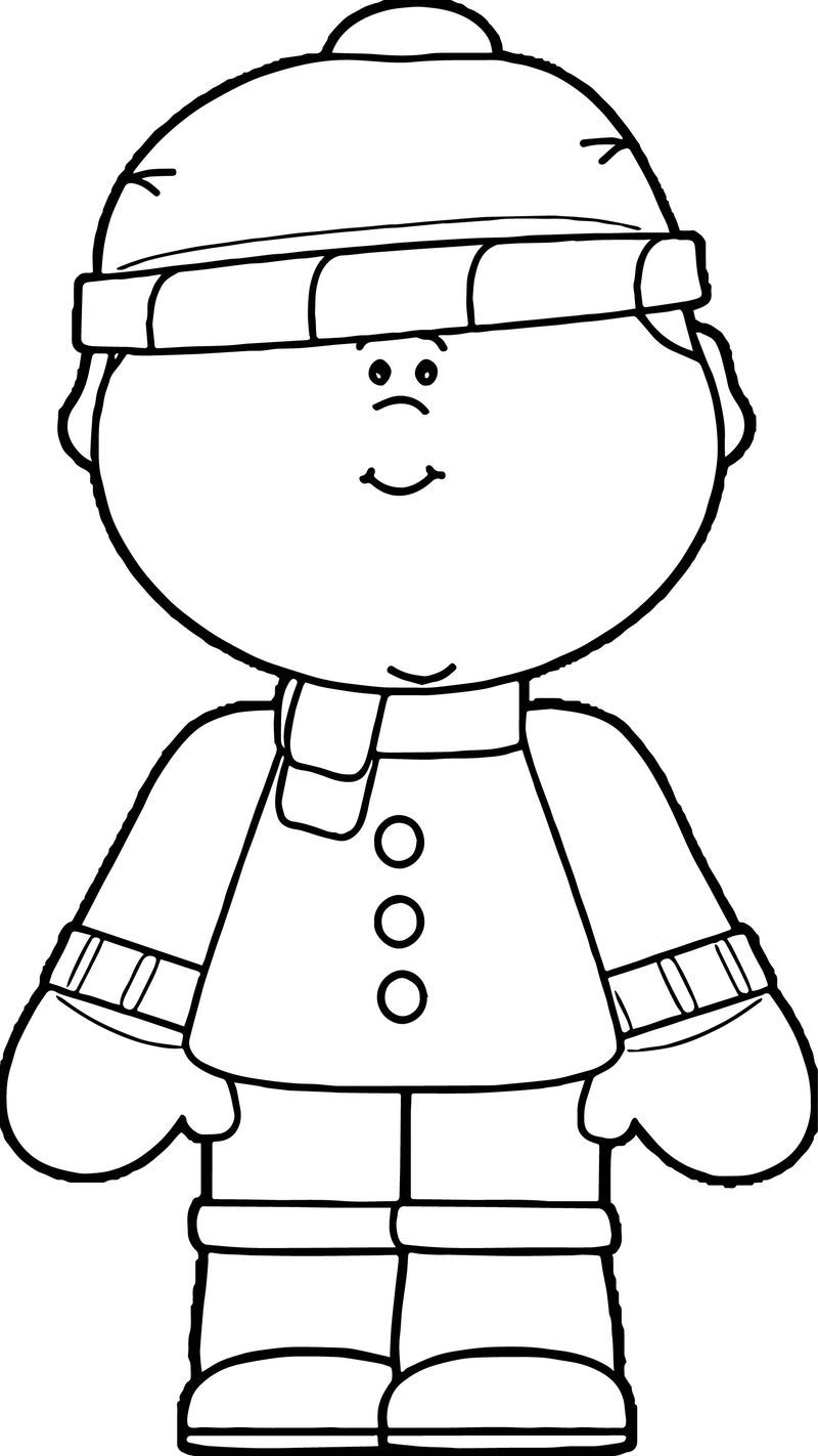Boy Dressed In Winter Clothing Coloring Page With Images