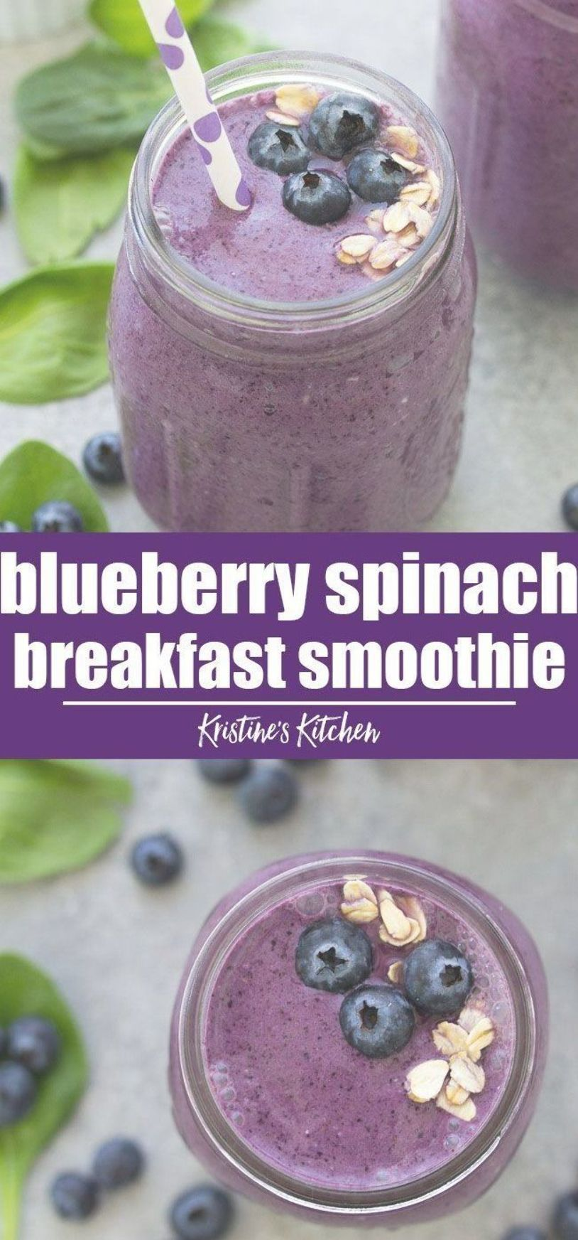 The Best Healthy Blueberry Spinach Breakfast Smoothie This