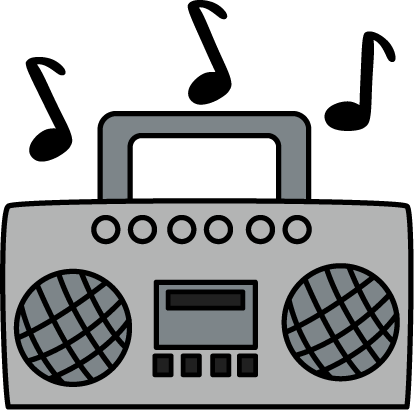 Boombox With Music Notes Clip Art Boombox With Music Notes Image Music Clipart Clip Art Boombox