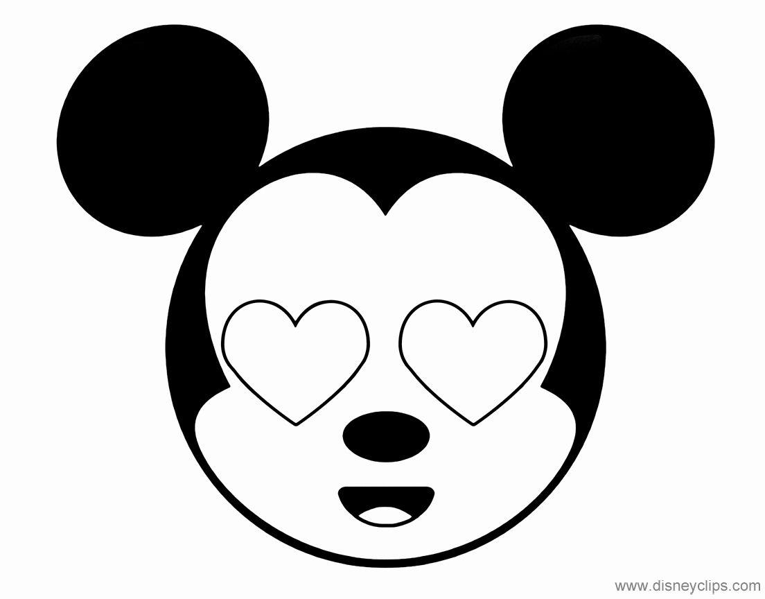 Disney Emoji Coloring Pages Cinebrique