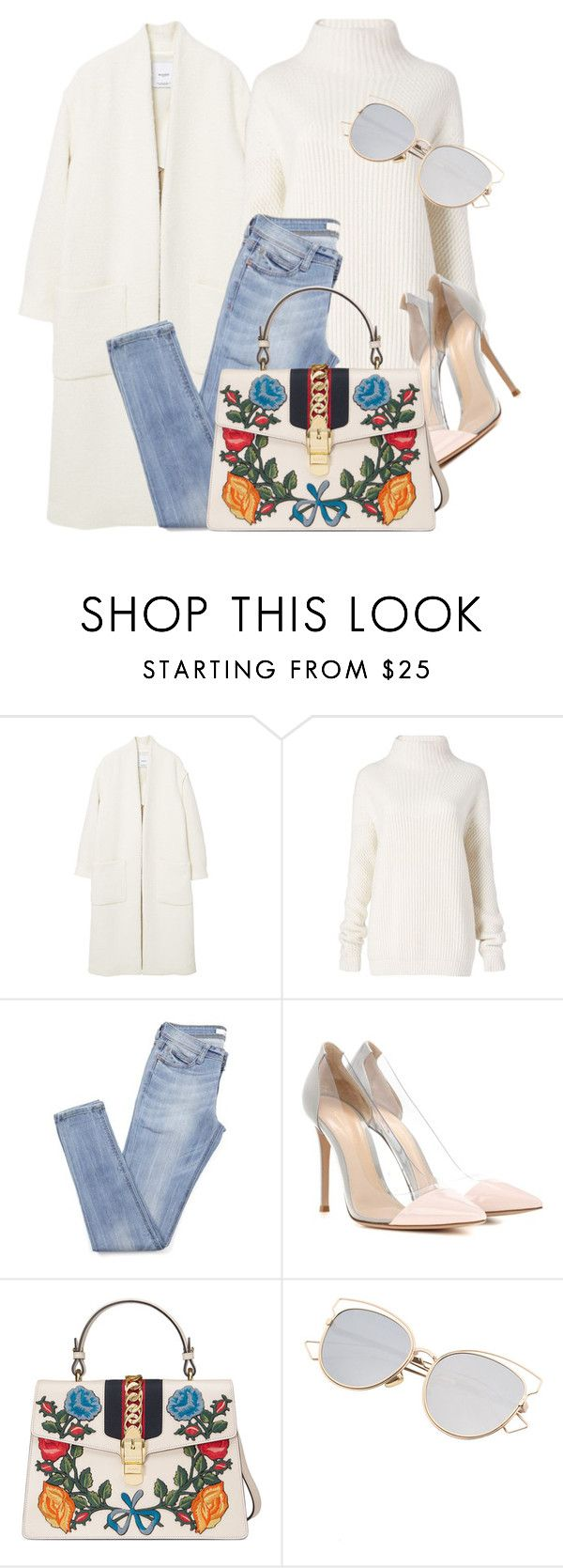 """""""Whites"""" by monmondefou ❤ liked on Polyvore featuring MANGO, Diane Von Furstenberg, Gianvito Rossi, Gucci and white"""