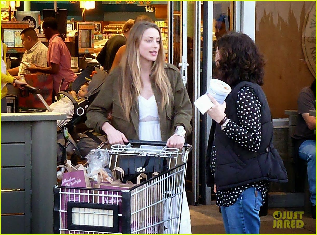 Amber heard at whole foods market in west hollywood